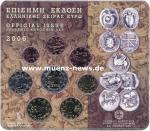 Griechenland Kursmünzensatz 2006