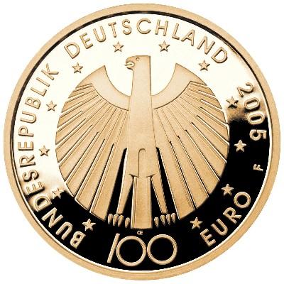 100 Euro Gedenkmünze Fußball Wm 2006 Deutschland 2005