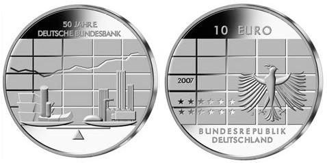 10 Euro Gedenkmünze Bundesbank Deutschland 2007